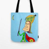 samurai Tote Bags featuring SAMURAI by Joe Pansa