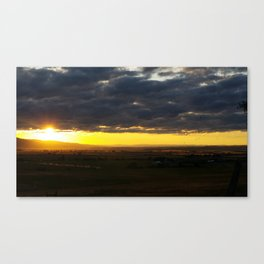 The Valley at Sunset Canvas Print