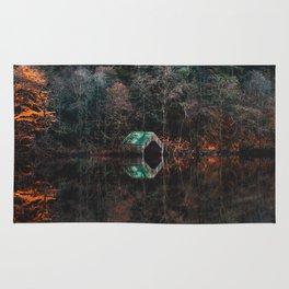Serene Wilderness Lakeside Nature Photography Rug