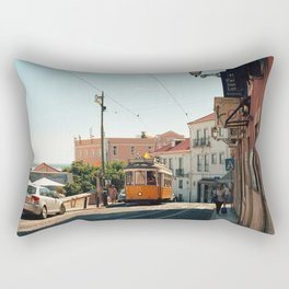 Lisbon yellow tram, Portugal Analog 6x6 Kodal Ektar 100 (RR 167) Rectangular Pillow