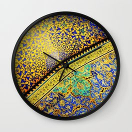 Islamic Tile Mosaic 2 Wall Clock