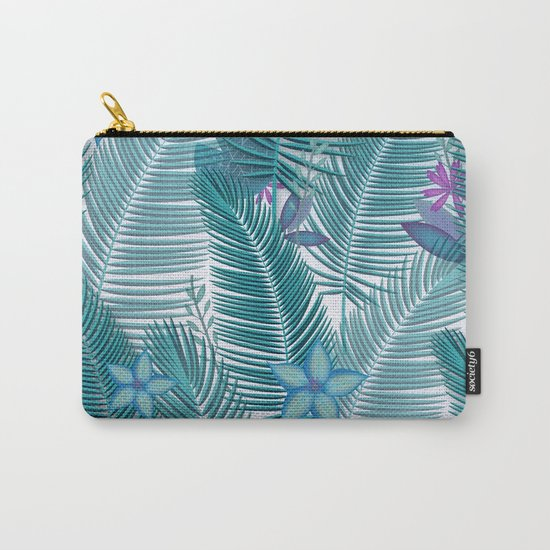 Tropical Flora Carry-All Pouch