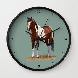 Beautiful Bay Pinto Quarter Horse Wall Clock