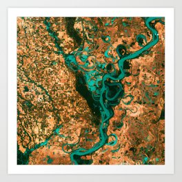 Meandering Mississippi Art Print