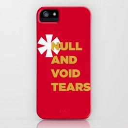 Null And Void Retro iPhone Case