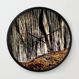 tree bark and wood Wall Clock