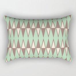 Mid Century Modern Diamond Pattern Brown Green 231 Rectangular Pillow
