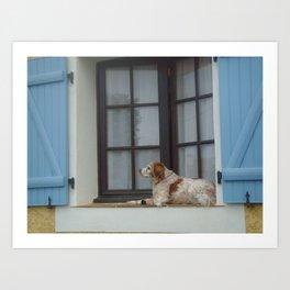 Pensive dog  Art Print