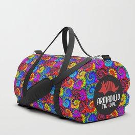 Spiral Tie Dye Checkerboard Duffle Bag