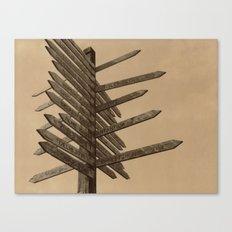Chocolate Signpost Polaroid Canvas Print
