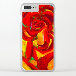 Wild Wild Rose Clear iPhone Case