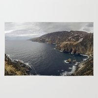 league Area & Throw Rugs featuring Slieve League by cmphotography