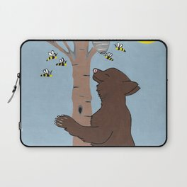 Bees And The Bear Laptop Sleeve
