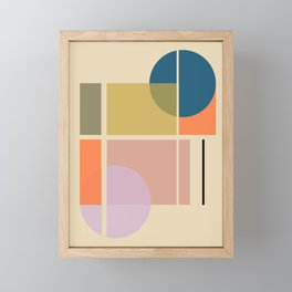 Modern geometric shapes Framed Mini Art Print