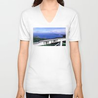 philippines V-neck T-shirts featuring OFF LIMIT (Philippines) by Julie Maxwell
