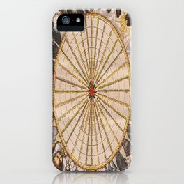 1657 Winds of the Earth by Jan Janszon iPhone Case