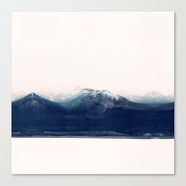 the blue mountain Canvas Print