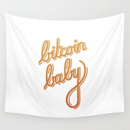 bitcoin baby   [color] Wall Tapestry