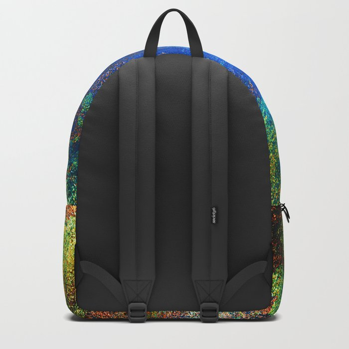 wall texture inside blues Backpack