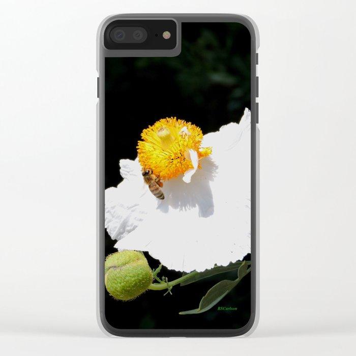 Matilija Poppy Clear iPhone Case