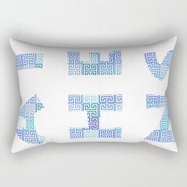 Athens Travel Poster Rectangular Pillow