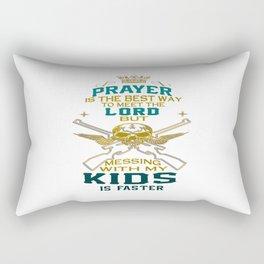 Mess With My Kids! Rectangular Pillow