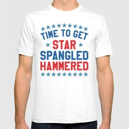 Time to Get Star Spangled Hammered - 4th of July T-shirt