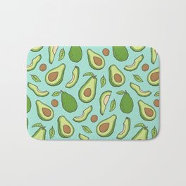 Avocado on Mint Green Bath Mat