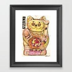 Harold the Chinese Cat Framed Art Print
