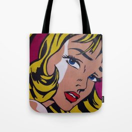 Roy L Girl with hair Ribbon  Tote Bag