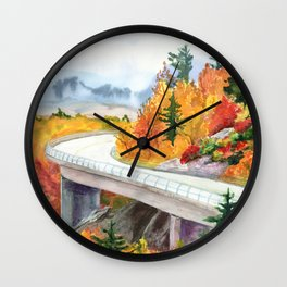 Road to Asheville Wall Clock