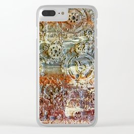Mechanical Gear Abstract Clear iPhone Case