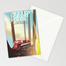 "Prevent forest Fires ""Don't be careless"" Stationery Cards"