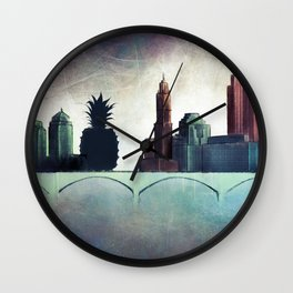 THE OTHER SIDE OF THE TOWN Wall Clock