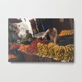 Fruit Stalls Metal Print