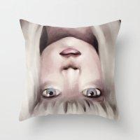 chandelier Throw Pillows featuring Chandelier by Carolina Valtuille