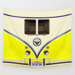 YELLOW minibus lovebug iPhone 4 4s 5 5c 6 7, pillow case, mugs and tshirt Wall Tapestry
