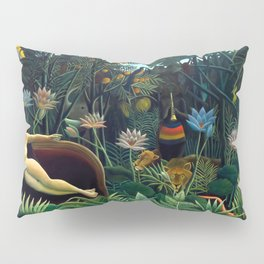 Henri Rousseau, The Dream (Le Rêve) 1910, Artwork for Wall Art, Prints, Posters, Tshirts, Men, Women, Youth Pillow Sham
