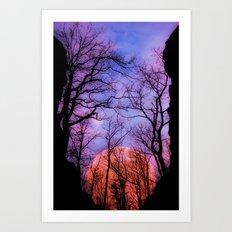 Moonrise Canyon Art Print