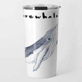 Farewhale Humour Whale Farewell Goobye design Travel Mug
