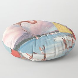 Flamingo Playground Floor Pillow