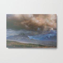 East Glacier Storm Metal Print