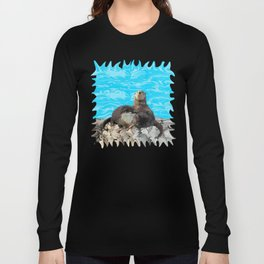 Where the River Meets the Sea Otters Long Sleeve T-shirt