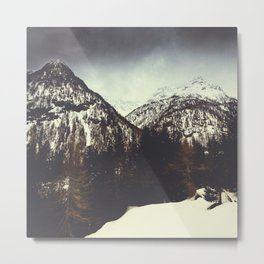 End of Winter in the Mountains Metal Print