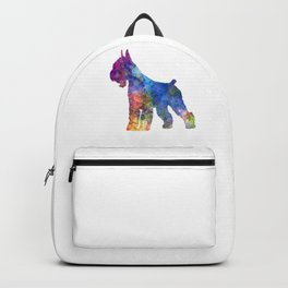 Giant Schnauzer dog in watercolor Backpack