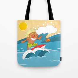 Non Olympic Sports: Surfing Tote Bag