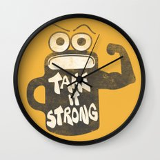 Take It Strong Wall Clock