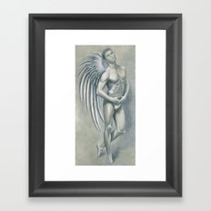 Angel Grey Framed Art Print