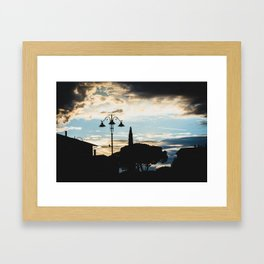 Italian cloudy evening Framed Art Print