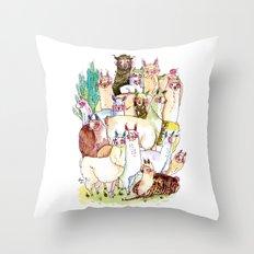 Wild family series - Llama Party Throw Pillow